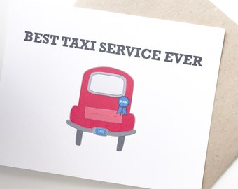 Funny Father's Day Card. Father's Day card. Dad Taxi Card.