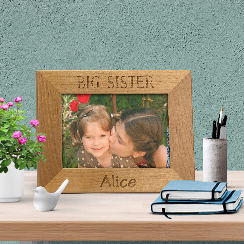 Engraved frame big brother big sister, Siblings picture frame ...