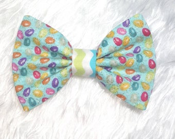 Easter Dog Bow Tie, Easter Egg Dog Bowtie