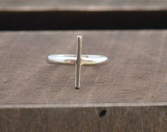 Single Bar Silver Ring