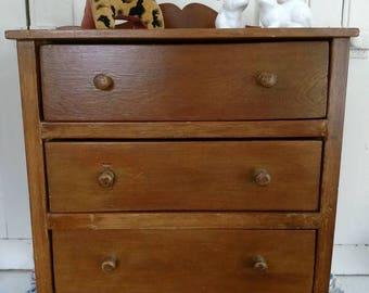 Cute 3 drawer doll dresser