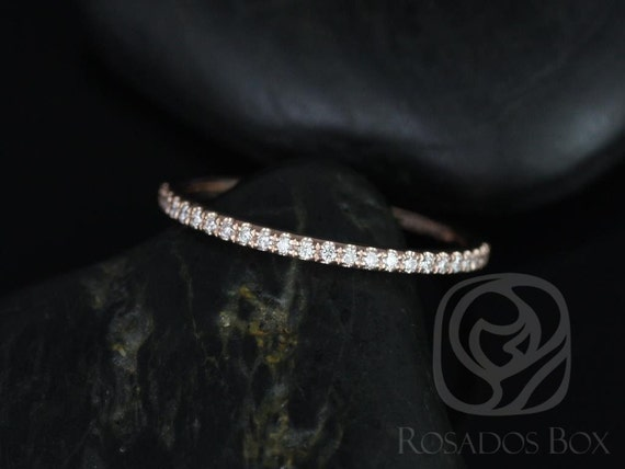 Rosados Box Ready to Ship 14kt Rose Gold Matching Band to ALL Federella/Darcy Diamonds HALFWAY Eternity Band