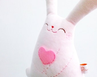Pink stuffed bunny, easter bunny, rabbit plush, plush bunny, stuffed rabbit, plush toy, stuffed animal, pink rabbit, cute stuffed toy, bunny