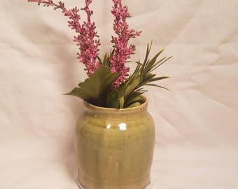 Drippy Green Vase