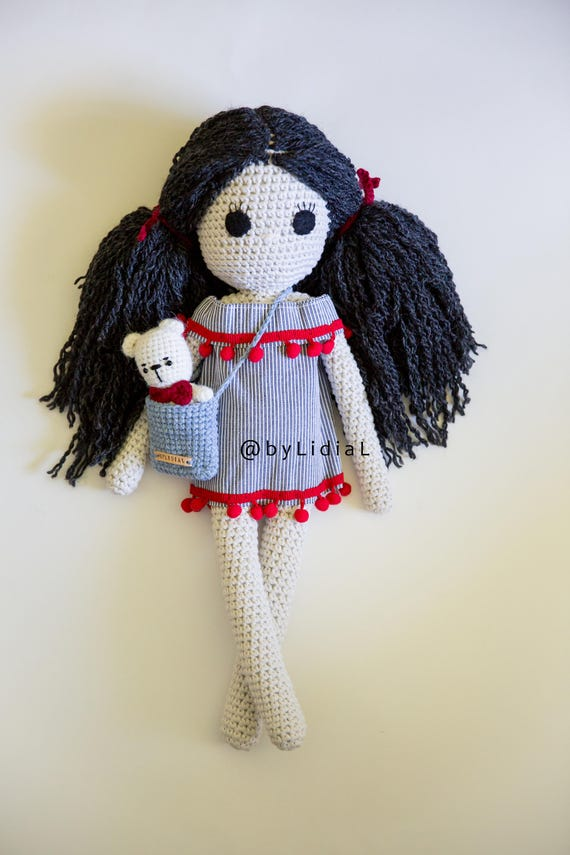 Crochet Doll Large Stuffed Toy Amigurumi Toddlers Toys