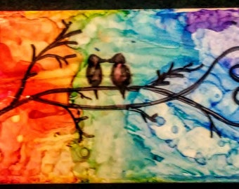 """Hand Painted Ceramic Tile 3"""" by 6"""""""