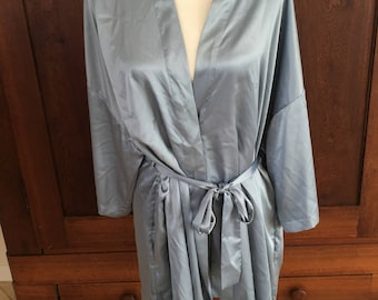 OS Victoria's Secret Blue Robe Satin One Size