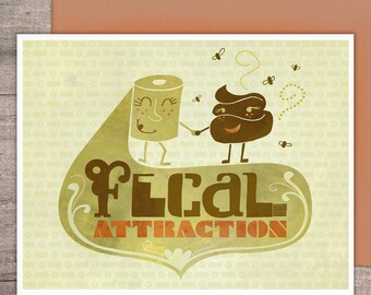 Fecal Attraction greeting card - Love Greeting Card