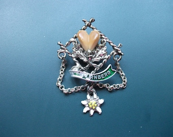 Vintage Souvenir Nurnberg Germany Enamel Brooch Pin