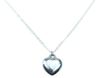 Ten Anniversary Tin Heart Pendant - 100% Pure Tin