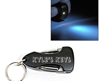 Personalized MultiTool LED Keychain - Free Engraving