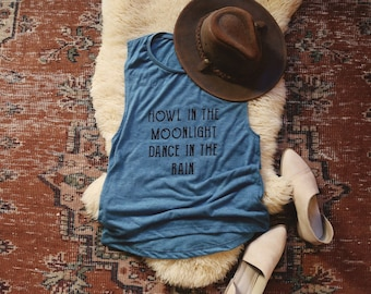 Howl in the Moonlight Muscle Tank - Womens