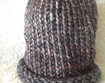 Pink and Grey Adult Winter Hat