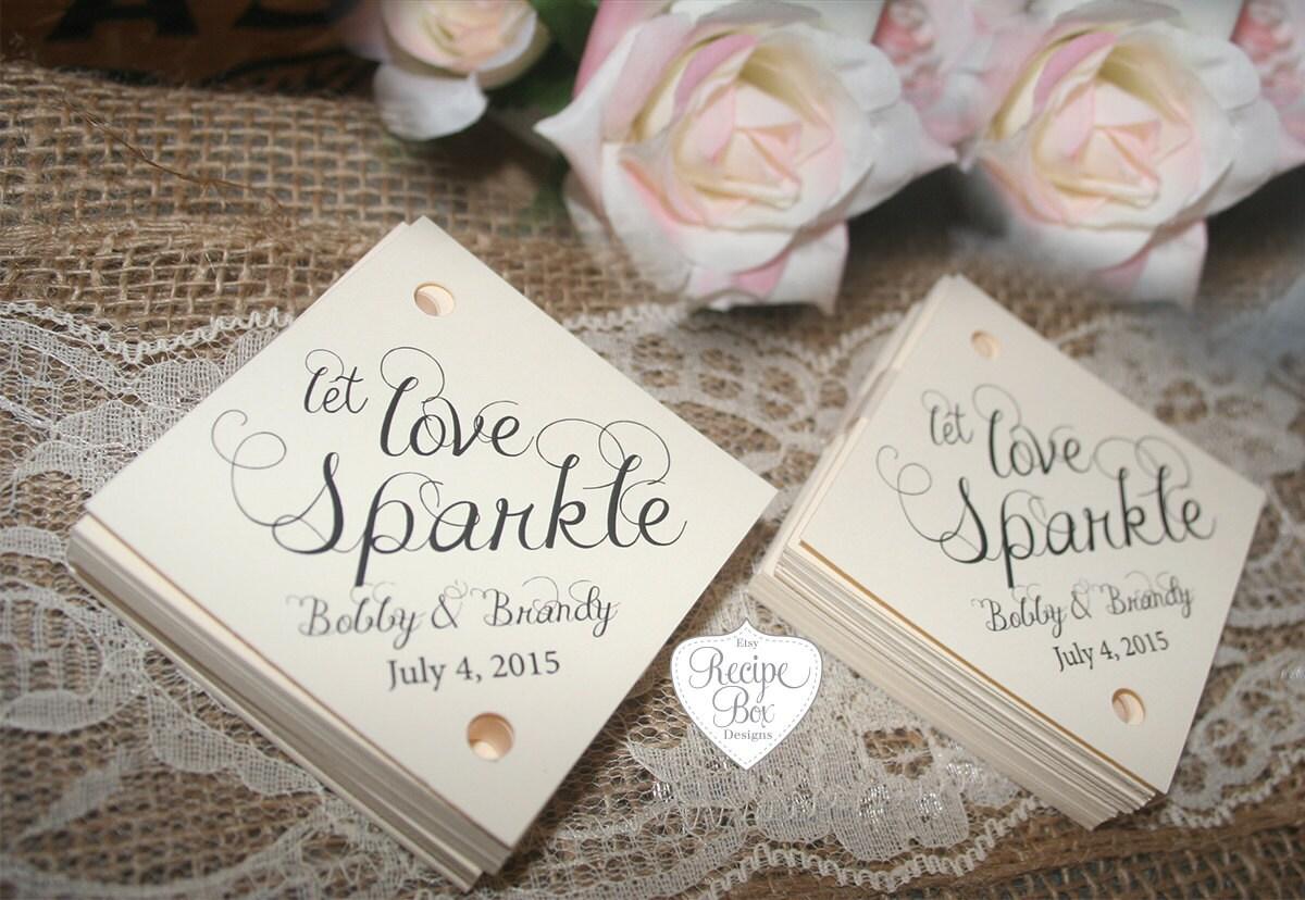 Wedding Sparkler Tags, Sparkler Tags Let Love Sparkle Favors Tag ...