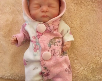 Ooak polymer clay baby doll art doll sculpted by MvLtinyartcreations