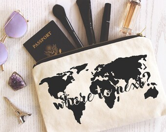 Travel Makeup Bag | Custom | Travel gifts | Cosmetic Bag | Gifts for Her | Gifts for Travelers | Quote