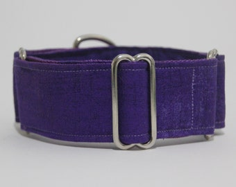 "Whippet Purple 1.5"" Martingale Collar"