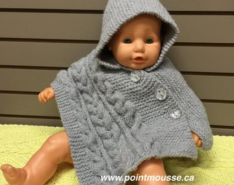 Poncho baby with hood
