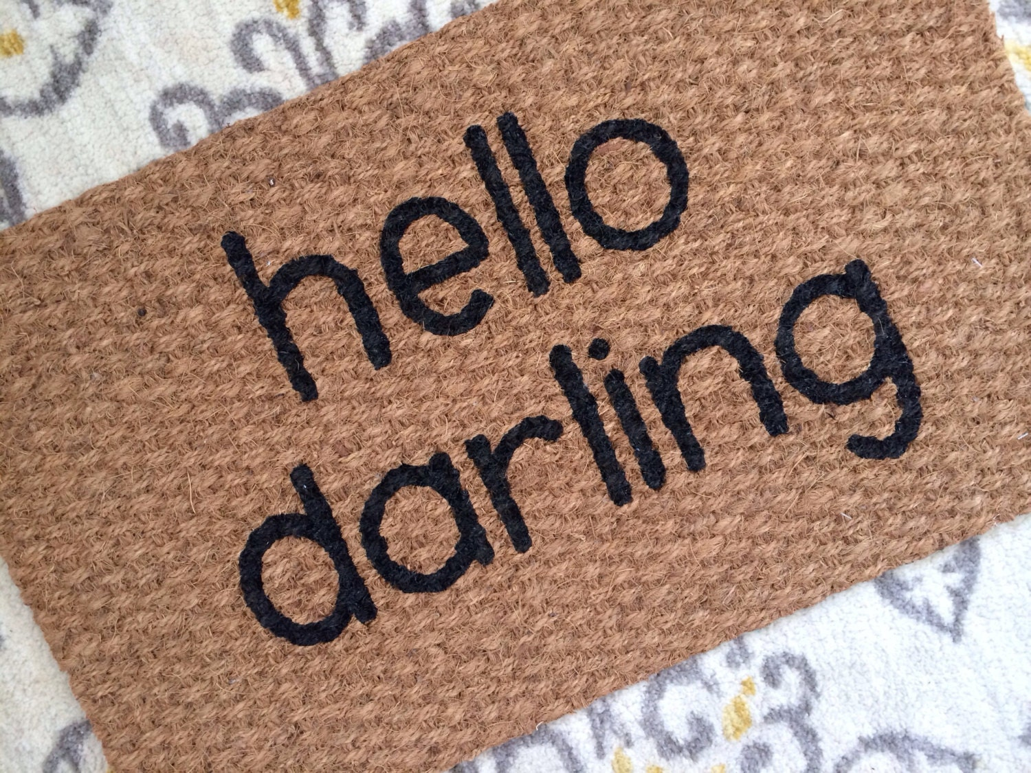 Hello Darling Welcome Mat Doormats with a southern flair