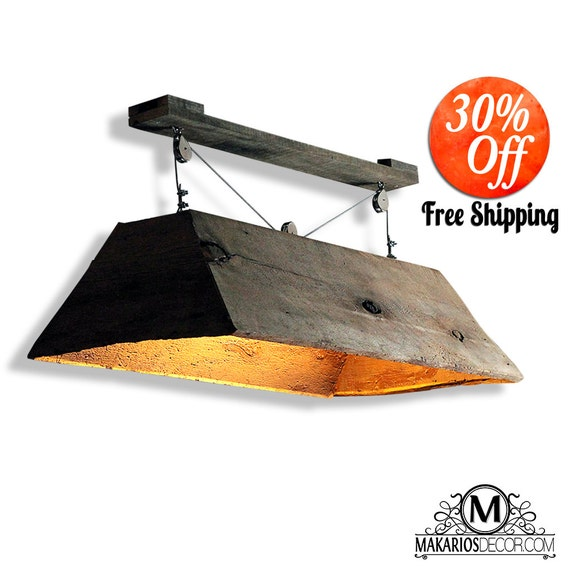 Barn Wood Light.Hanging Light.Table Light.Kitchen Table