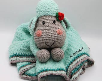 Waldorf inspired Cuddle Blanket toy Scheep