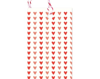 Hearts - Gift Tags Set of 10 with twine