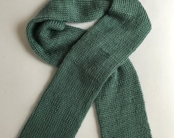 Teal Knit Scarf
