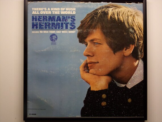 Glittered Record Album - Herman's Hermits - There's A Kind Of Hush All Over The World