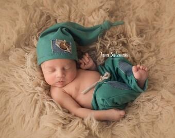 Junge Neugeborenen Foto Requisiten Fotografie Outfit Neugeborenen Hose und Mütze Neugeborenen Neugeborenen-Fotografie