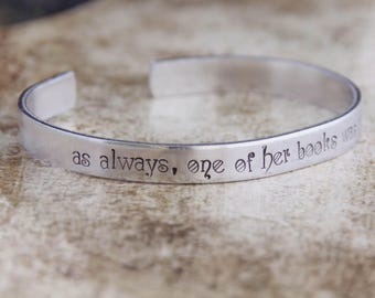 As Always, One Of Her Books Was Next To Her / The Book Thief Quote Jewelry / Book Lover Gift / Literary Jewelry / Literary Gift
