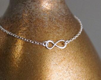 Dainty Infinity Bracelet / Dainty Bracelet / Layered Bracelet / 14K Gold Filled or Sterling Silver Bracelet / Infinity Charm