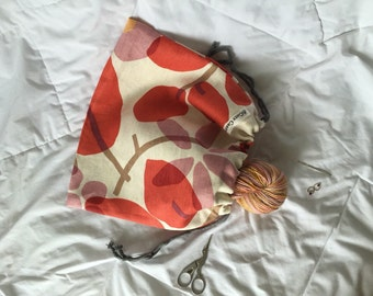 Drawstring Bag -  Knitting / Project Bag Pouch