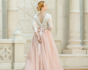 Plus Size Wedding Etsy - Plus Size Blush Wedding Dresses