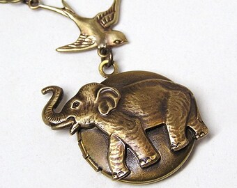 Little ELEPHANT LOCKET, Necklace Pendant