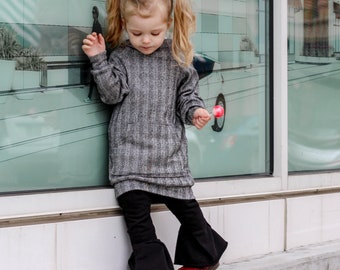 Gray long hoodie for kids babies and toddlers