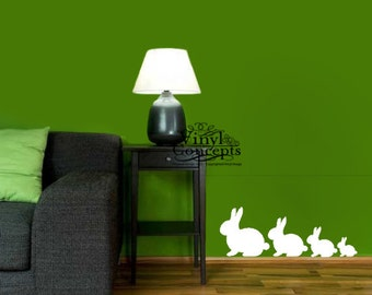 Bunny Family - Set of four - Vinyl Wall Art