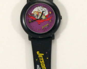 Space Age, Jetsons, the Movie, Watch, Saturn, Cosmic, Gift for Nerd, Gift for Him, Space Ship, Purple, Black, USED