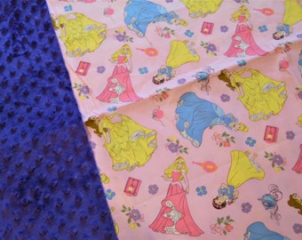 "Disney Princess Minky Blanket 36"" x 42"""