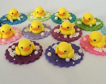 Rubber Duck Fondant Cupcake Topper