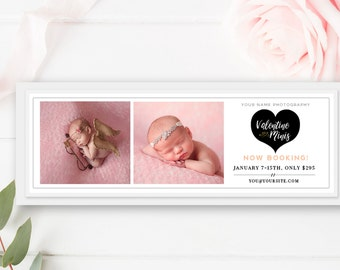 Valentines Facebook Timeline, Valentines Facebook Cover, Valentines Mini Sessions, Photographer Templates - INSTANT DOWNLOAD!