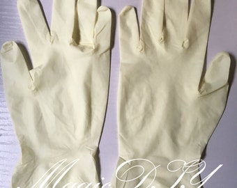 Ivory Thin Rubber Latex Gloves Maintenance Tool