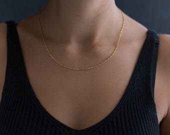Dainty Chain Choker - Simple Gold Choker - Layering Necklace - Wrap Choker Necklace - Dainty Jewelry - Delicate Gold Choker