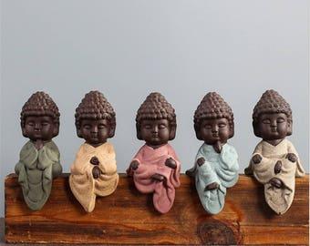 "Mini shelf sitter, Peaceful sitting & meditating Buddha, Sits on a shelf 5"" or 2"" figurine- Buddha - Buddha Gift - Meditating - Namaste zen"