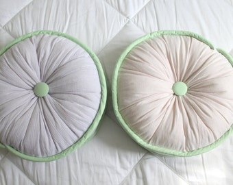 Custom Round Memory Pillow - Made from YOUR Clothes