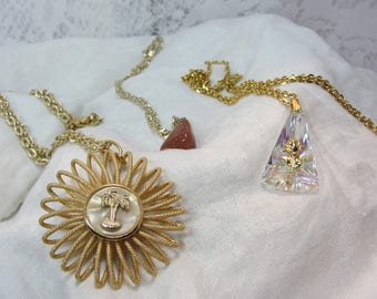 "Set of Three Vintage ""West Germany"" Made Pendant Necklaces"