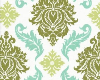 1 Yard AVIARY 2 Collection / Damask  in Dill /  Joel Dewberry /  Cotton Quilting  Fabric  By The Yard