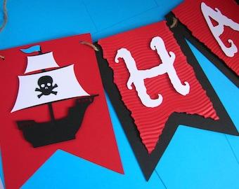 Pirate Ship Birthday Banner