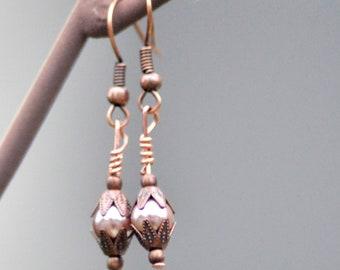 Victorian Pearl Earrings, Edwardian Earrings, Wedding Earrings, Steampunk Earrings, Dainty Pearl Earrings
