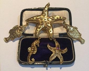 Vintage Star Fish brooch, great piece