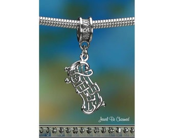 Sterling Silver Music Charm or European Style Bracelet Notes Score 925